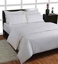 Homescapes Sábana bajera ajustable 100% algodón Bio 400 hilos Color Blanco