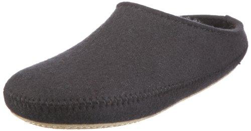 Haflinger P-Loft 411006, Unisex - Erwachsene Hausschuhe, Schwarz (schwarz 3), EU 41 -
