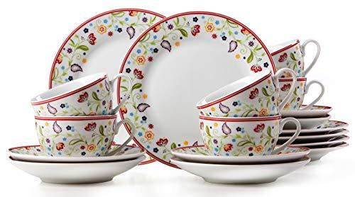 Ritzenhoff & Breker Kaffeeservice Doppio Shanti, 18-teilig, Porzellangeschirr