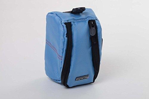 vhbw Tasche Gürteltasche hellblau für Kamera, mini Camcorder JVC GZ-R310, GZ-R310SEU, GZ-R315, GZ-R315BEU, GZ-RX510, GZ-RX510BEU, GZ-RX515