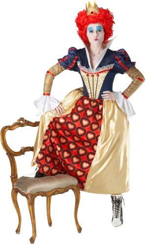 Im Alice Wunderland Kostüm Königin (Die Rote Königin Kostüm - Alice im Wunderland - Größe:)