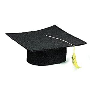Black Felt Graduation Cap