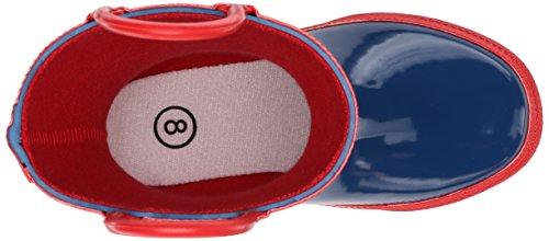 Hatley  Rainboots -Navy & Red, Bottes Garçons Multicolore - Multicolor (Blue)