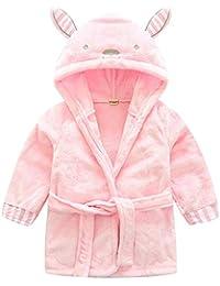 Bebé Niños Albornoz Batas de Baño - Niñas Invierno Franela Pijama con Capucha Cálido Suave Ropa
