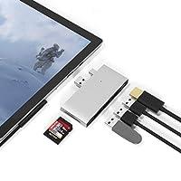 محول يو إس بي لمحطة الاقتران 4/برو 5/برو 6، محول يو إس بي 3.0×3، قارئ بطاقة الذاكرة SD وTF/مايكرو SD من سرفيس برو، ملحقات محول منفذ HDMI 4K لـ Microsoft Surface Pro 6 5 4