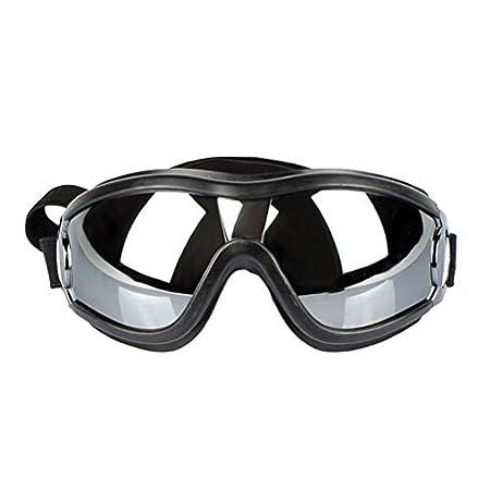 POPETPOP Hundebrille verstellbar Haustier-Sonnenbrille UV-Schut Augenschutz Schutzbrille Cosplay Kostüm für Hunde Katzen Haustier