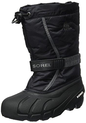 Sorel Kinder Youth Flurry Stiefel, schwarz/grau (city grey), Größe: 36
