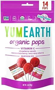 Yum Earth Organic Fruit Pops Vitamin C 14 Pieces, 85 g