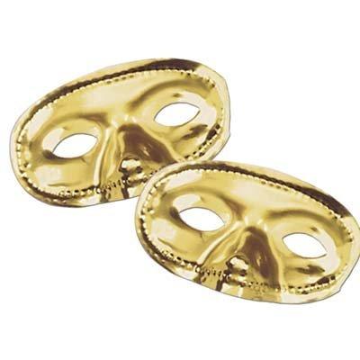 Beistle Party Deko Metallic Halbmaske - Gold - 24 Stück