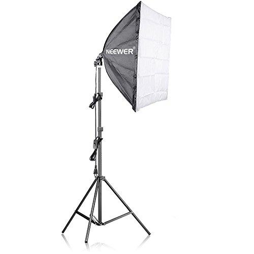 Neewer 200 W Fotografia Soft Box luce beleuchtungskit - 60*60 zentimeter Soft Box e luce Stand con 45 W lampadina fluorescente per Studio Fotografico interi, prodotto e Riprese Video