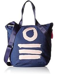 Oilily - Fun Nylon Shopper Lvz, Bolsos maletín Mujer, Blau (Dark Blue), 10x38x32 cm (B x H T)