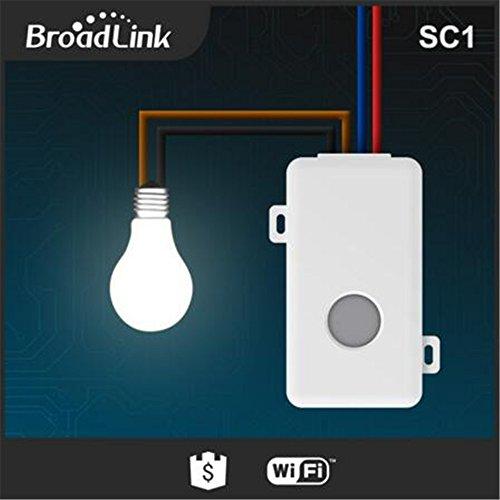 Broadlink SC1 WiFi telecomando Smart Light switch, domotica wireless controllo timer interruttore (1 pezzi), compatibile con alexa & google home - 4
