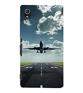 Fuson Premium Back Case Cover Aeroplane With Green Background Degined For Sony Xperia M4 Aqua::Sony Xperia M4 Aqua Dual