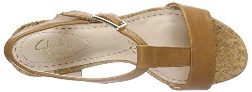 Clarks Smart Deva, Sandales Bout ouvert femme Marron (Tan Leather)