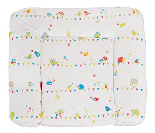 roba Folien Wickelauflage \'Waldhochzeit\', weiche Wickelunterlage 85x75 cm, Baby Wickeltischauflage aus phtalatfreier Folie