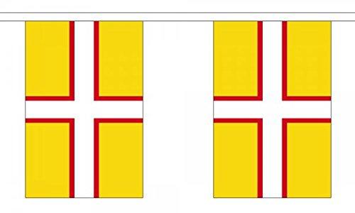 Dorset Anglais de polyester drapeau fanions 3 m (10 ') Guirlande de fanions avec 10 drapeaux