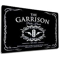 Artylicious The Garrison - Placa Decorativa de Metal para Pared, Color Negro