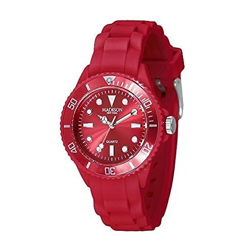 MADISON NEW YORK Unisexe Montre Candy Time® Mini Rouge one size