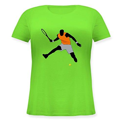 Tennis - Tennis Squash Sprung Tennisball - L (48) - Hellgrün - JHK601 - Lockeres Damen-Shirt in großen Größen mit Rundhalsausschnitt