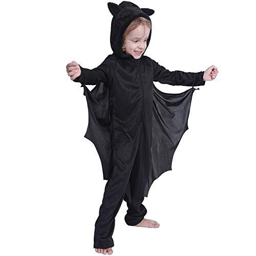 Fledermaus Kleid, Für Kind Halloween Kostüm, Mit Kapuze Handschuhe Für Jungen Mädchen Kleinkind Tier Fledermaus Kostüm Vampir Anzug Kostüm Halloween Party Cosplay - Fledermaus Kostüm Boy