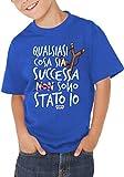 Fermento Italia T-Shirt Bambino Divertente Non Sono Stato IO!!! - Maglietta Umoristica 100% Cotone JHK (12-14 Anni, Verde)