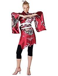 Kimono Damen Negligee Kleid Cosplay Lolita Minikleid Kakitsubato