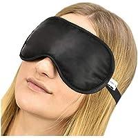 Jasmine Silk Luxus 100% Seide Schlafmaske Augenmaske Reisen Silk eye mask - Schwarz preisvergleich bei billige-tabletten.eu