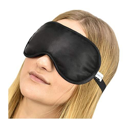 Jasmine Silk Pure Silk Sleep Eye Mask Stein Antifaz Mascara Color Negro