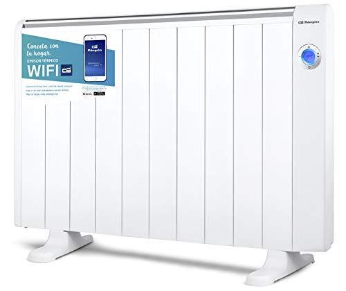 Orbegozo RRW 2000 - Emisor térmico bajo consumo Wi-Fi, 2000 W, pantalla digital LCD, programable, conexión...