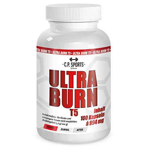 C.P. Sports Ultra Burn T5-100 Kapseln hochdosiert hergestellt in Deutschland mit Kaffee Extrakt, Grüner Tee Extrakt, Guarana