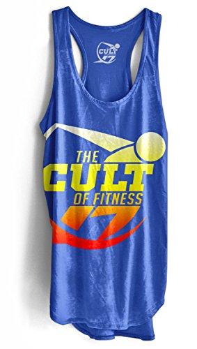 Explotó el logotipo del culto de fitness para mujer Racer-Back Depósito, color azul, mujer, Lapis Blue