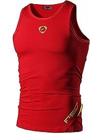 Jeansian Hombres Camiseta De Tirantes Deportivas Wicking Quick Dry Vest tee Tank Top Verano Correr Training LSL3306