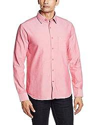Proline Mens Casual Shirt (8907007298572_PS111_Medium_Red)