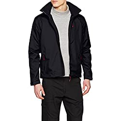 Helly Hansen Men's Crew Hooded Midlayer Jacket, Navy, L