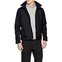 Helly Hansen Men's Crew Hooded Midlayer Jacket, Navy, L