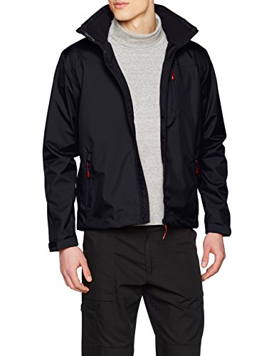 Helly Hansen Crew Hooded Midlayer - Chaqueta Impermeable con capucha para Hombre, Azul (Navy 597). Large (Tamaño del fabricante: L)