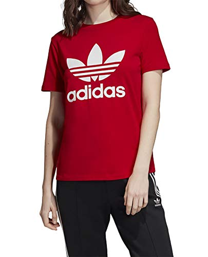 adidas Damen Trefoil Tee T-Shirt, Scarlet, 44 -