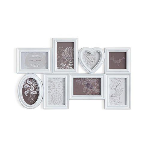 Montemaggi portafoto multiplo da parete a 8 cornici in pvc - Cornici portafoto da parete ...