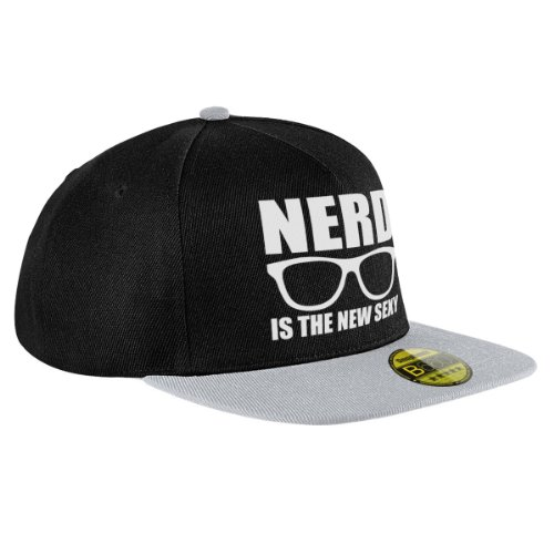 Stylotex Flat Cap Nerd is the new sexy Print, Farbe:schwarz-grau