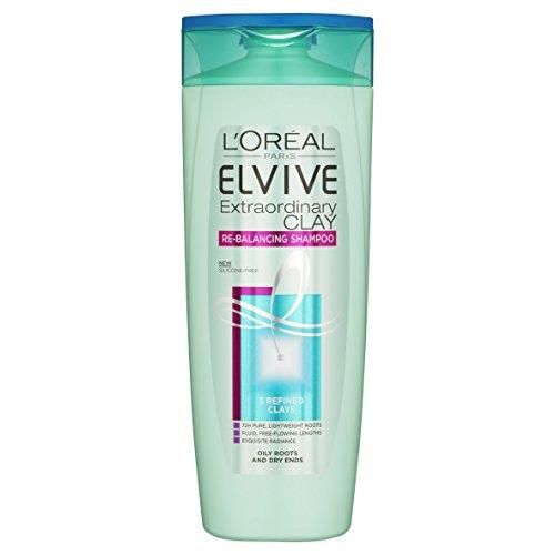 L'Oréal Clay Oily Roots Shampoo, 500ml