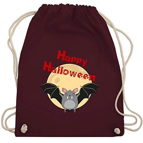 Halloween - Happy Halloween Fledermaus - Unisize - Bordeauxrot - WM110 - Turnbeutel & Gym ()