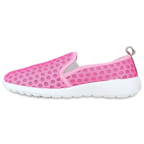 Sportliche Damen Slip-ons Bequeme Lightweight Slipper Sneakers Pink