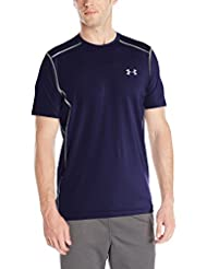 Under Armour Fitness Raid Short Sleeve Tee, Camiseta de manga corta Para Hombre, Azul (Midnight Navy/Steel (410), L