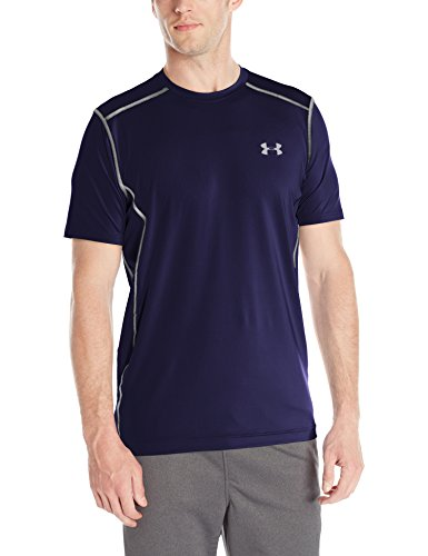 Mens Heatgear Legging (Under Armour Fitness Raid Short Sleeve Tee Herren Fitness - T-Shirts & Tanks, Midnight Navy/Steel (410), M, 1257466)