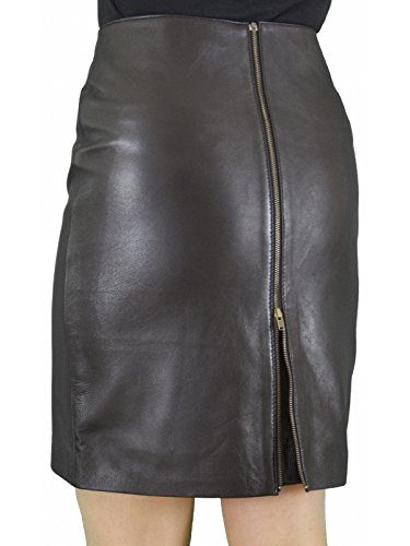 2dca0df8c7344 Ashwood for Tout Ensemble Black Genuine Real Luxury Soft Leather Pencil  Skirt With Full Rear Zip Opening