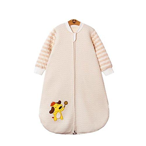 Chilsuessy Baby Frühling Sommer Schlafsack ungefüttert mit abnehmbar Ärmel ,Frühjahr Kinderschlafsack GOTS Bio Baumwolle , 1#, M/Koerpergroesse 75-90cm