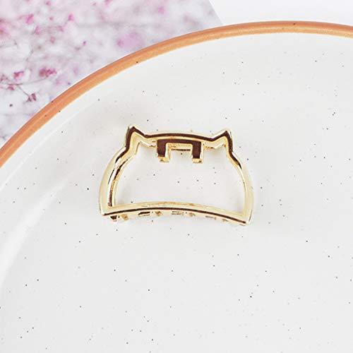 Gjyia Womens minimalistischen Mini Hair Claw Clips Metallic Gold aushöhlen geometrische Pferdeschwanz Inhaber Clamp Muschel Herz Bowknot Haarspangen