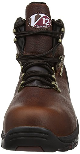 V12 Storm, Oiled Waterproof Safety Hiker, 08 UK 42 EU, Brown Braun (Brown)