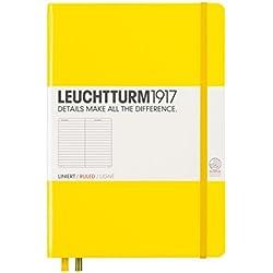 Leuchtturm1917 - Cuaderno (A5, 249 páginas, de rayas, tapa dura, tamaño mediano), color amarillo