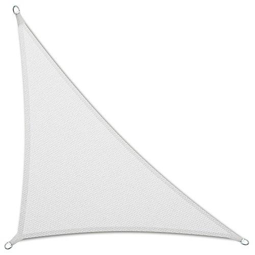 Casa pura tenda a vela triangolare | impermeabile | da esterno | 5x5x7 m | bianca